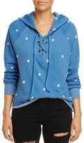 Wildfox Couture Hutton Lace-Up Star Print Sweatshirt - 100% Exclusive