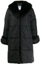 Moschino Logo Printed Puffer Coat