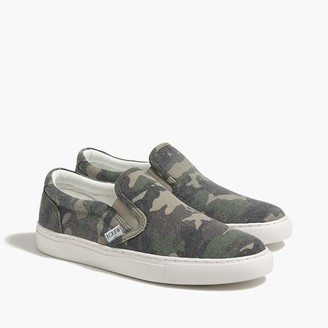 J.Crew Printed road trip canvas slip-on sneakers