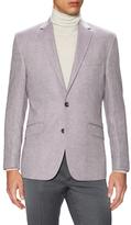 Kenneth Cole New York Linen Herringbone Notch Lapel Sportcoat