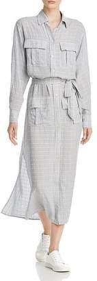 Current/Elliott The Ana Crosshatch Maxi Shirt Dress