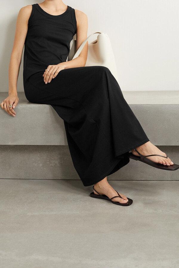 Thumbnail for your product : The Row Elkie Pima Cotton-jersey Maxi Dress - Black