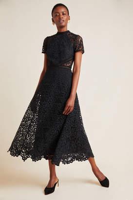 ML Monique Lhuillier Lace Maxi Dress
