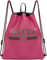 Gucci Pink Fake Drawstring Backpack