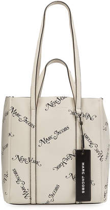 Marc Jacobs The x New York Magazine The Tag Logo Leather Tote Bag