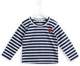 Comme Des Garçons Play Kids - play printed T-shirt - kids - Cotton - 2 yrs