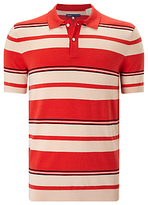 Levi's Made & Crafted Stripe Sweater Polo Shirt, Red