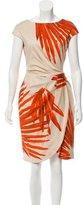 Lela Rose Abstract Print Sheath Dress