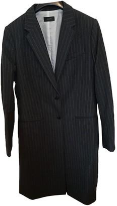Joseph Anthracite Cotton Coat for Women