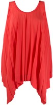Issey Miyake Flared Pleated Top