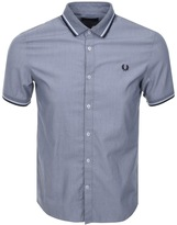 Fred Perry Twin Tipped Chequer Shirt Navy