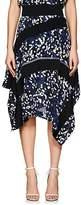 3.1 Phillip Lim Women's Painted-Dot-Print Silk Midi-Skirt
