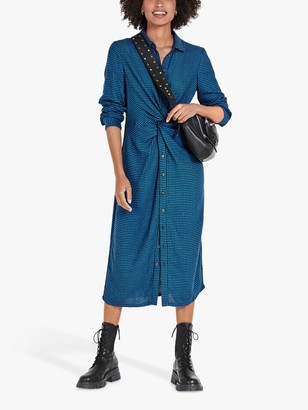 Hush Saskia Abstract Midi Shirt Dress, Houndstooth