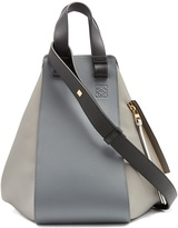 Loewe Hammock contrast-panel leather tote