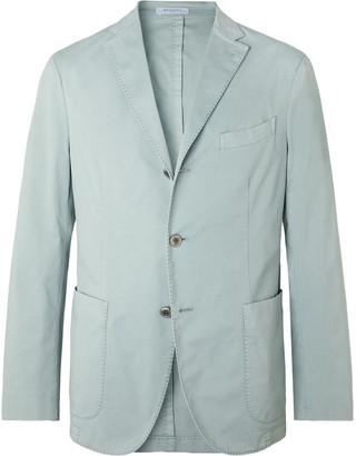 Boglioli Grey-Green Slim-Fit Stretch-Cotton Twill Suit Jacket