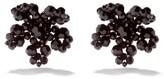 Thumbnail for your product : Simone Rocha Crystal Flower Earrings - Black