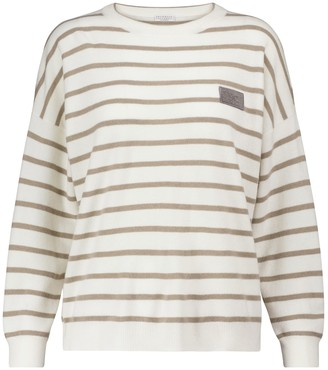 Brunello Cucinelli Striped wool-blend sweater