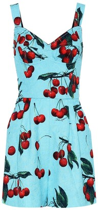 Dolce & Gabbana Exclusive to Mytheresa Cherry printed cotton-blend playsuit
