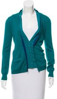 Lela Rose Long Sleeve Button-Up Cardigan