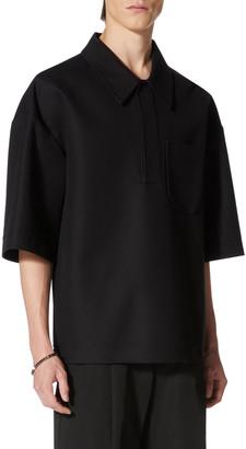Valentino Men's Heavy Cotton Oversized Polo Shirt