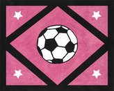JoJo Designs Girls Soccer Accent Floor Rug by Sweet
