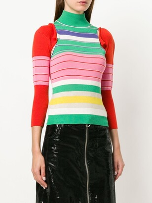 John Galliano Pre-Owned Removable Sleeves Knitted Blouse