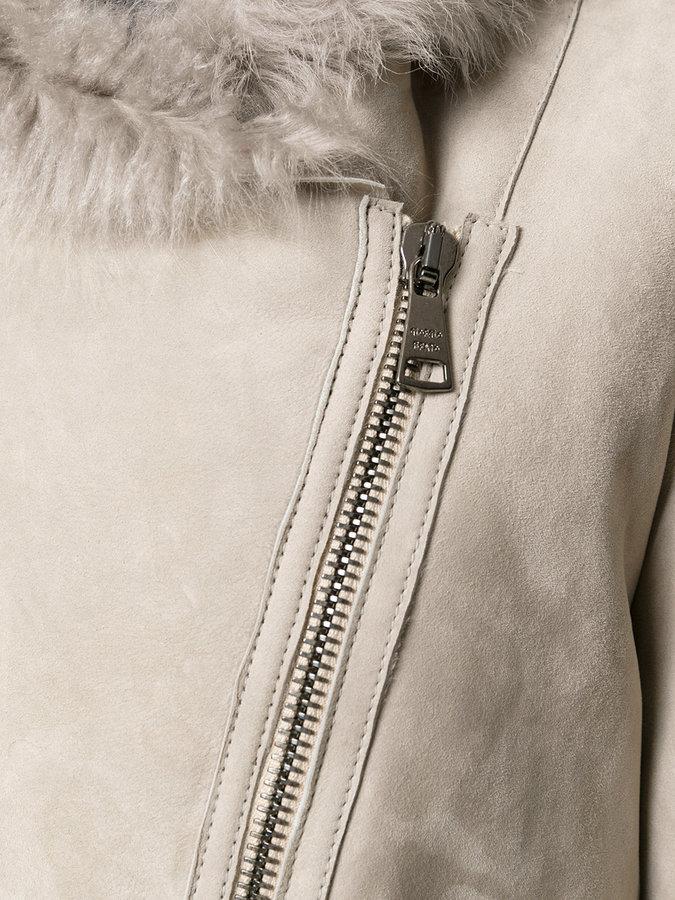 Giorgio Brato asymmetric zipped jacket