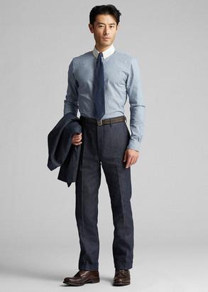 Ralph Lauren Slim Indigo Denim Suit Trouser