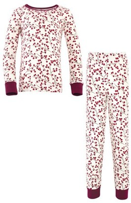 Touched by Nature Girls 6-14 Tight Fit Long Sleeve Top and Pant Pajama Set