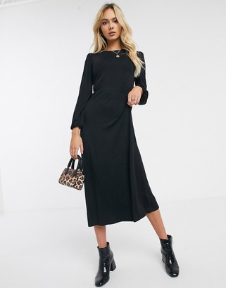 New Look jersey midi dress in black