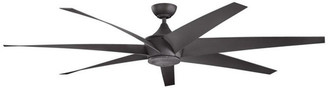 "Kichler 80"" Lehr Fan, Distressed Black"