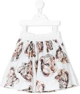 MonnaLisa cheetah print skirt - kids - Cotton/Polyamide - 2 yrs