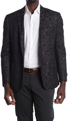 H By Hickey Freeman Charcoal Single Button Modern Fit Sport Coat