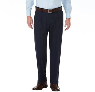 Haggar Men's J.M. Premium Classic-Fit Pleat-Front Stretch Suit Pants