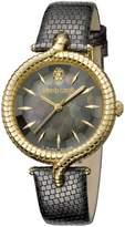 Roberto Cavalli Women's RV1L012L0016 Gold IP MOP Dial Leather Watch