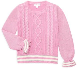 Design History Little Girl's & Girl's Cable Knit Sweater