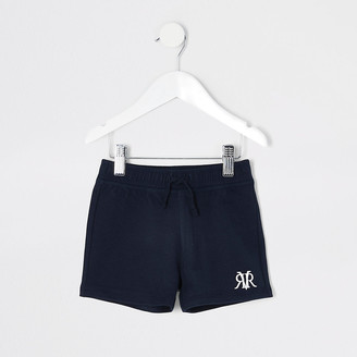 River Island Mini boys navy RVR shorts