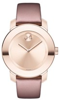 Movado Women's Bold Leather Strap Watch, 36Mm