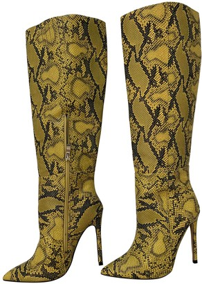 Ego Yellow Synthetic Boots