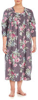 Carole Hochman Plus Printed Flannel Gown