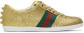 Gucci Gold Glitter Bambi Sneakers