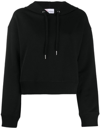 RED Valentino Tulle Trim Hoodie