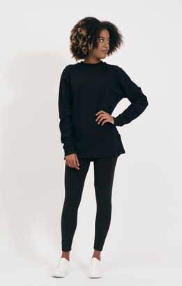 Shio Black Long Pullover - S/M | cotton | black - Black/Black