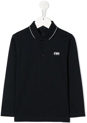 Emporio Armani Kids Core Long-Sleeve polo shirt