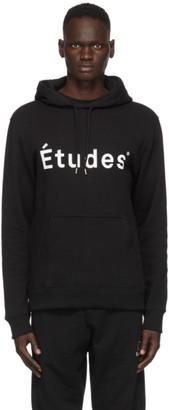 Études Black Klein Logo Hoodie