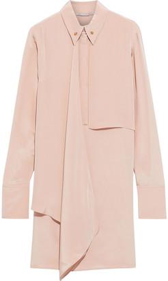 Stella McCartney Lawson Draped Silk Crepe De Chine Mini Dress