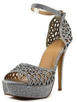 Thalia Sodi Felisa Open Toe Canvas Platform Sandal.