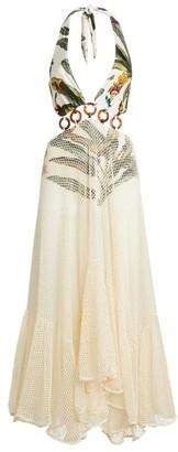 PatBO Tropical Mesh Dress