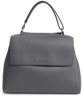Orciani Medium Sveva Soft Leather Top Handle Satchel - Grey