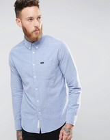 Lee Buttondown Brushed Oxford Shirt Blue